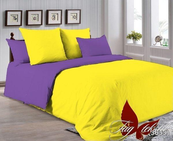 Комплект постельного белья P-0643(3633)  ПОСТЕЛЬНОЕ БЕЛЬЕ ТМ TAG > Евро > Однотонное постельное