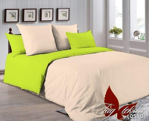 Комплект постельного белья P-0807(0550)  ПОСТЕЛЬНОЕ БЕЛЬЕ ТМ TAG > 2-спальные > Однотонное постельное