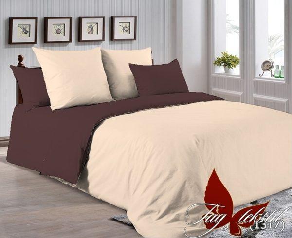 Комплект постельного белья P-0807(1317)  ПОСТЕЛЬНОЕ БЕЛЬЕ ТМ TAG > 1.5-спальные > Однотонное постельное