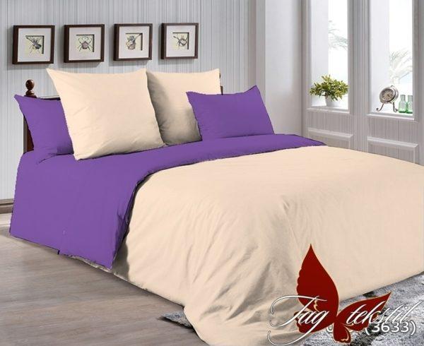 Комплект постельного белья P-0807(3633)  ПОСТЕЛЬНОЕ БЕЛЬЕ ТМ TAG > 2-спальные > Однотонное постельное