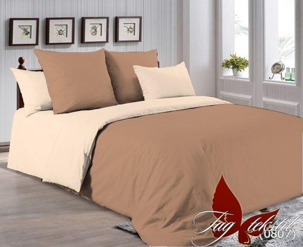 Комплект постельного белья P-1323(0807)  ПОСТЕЛЬНОЕ БЕЛЬЕ ТМ TAG > 1.5-спальные > Однотонное постельное