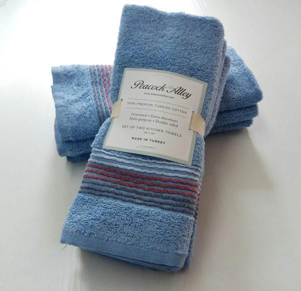 Набор полотенец 35*55 (4шт) Синий  Кухонные полотенца