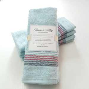 Набор полотенец 35*55 (4шт) Голубой  Кухонные полотенца