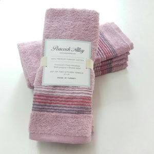 Набор полотенец 35*55 (4шт) Розовый  Кухонные полотенца