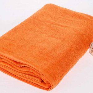 Махровая простынь оранжевого цвета  Простыни махровые > Размер 180х210