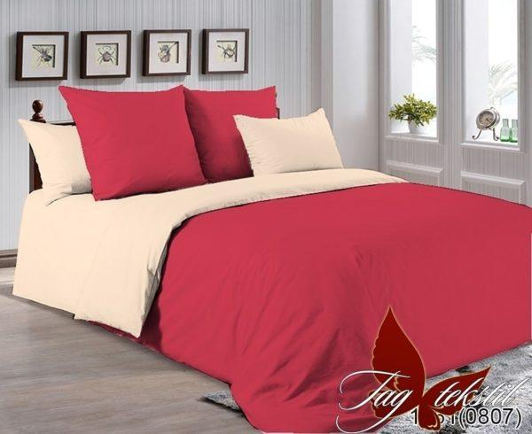Комплект постельного белья P-1661(0807)  ПОСТЕЛЬНОЕ БЕЛЬЕ ТМ TAG > 1.5-спальные > Однотонное постельное
