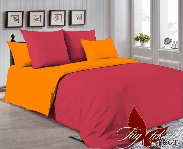 Комплект постельного белья P-1661(1263)  ПОСТЕЛЬНОЕ БЕЛЬЕ ТМ TAG > 2-спальные > Однотонное постельное