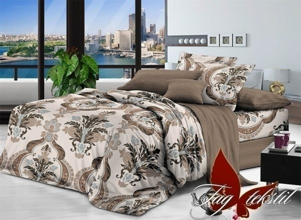 Комплект постельного белья с компаньоном 1708  ПОСТЕЛЬНОЕ БЕЛЬЕ ТМ TAG > 1.5-спальные > Поплин