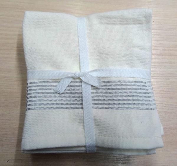 Набор полотенец 30*30 (6шт) Полоса  Кухонные полотенца
