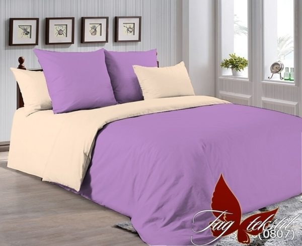 Комплект постельного белья P-3520(0807)  ПОСТЕЛЬНОЕ БЕЛЬЕ ТМ TAG > 2-спальные > Однотонное постельное