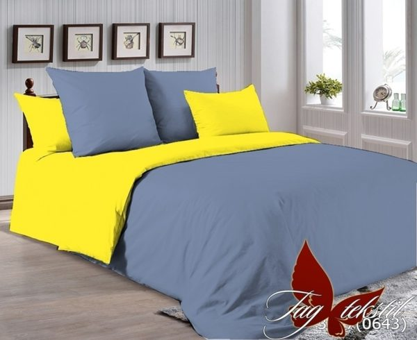 Комплект постельного белья P-3917(0643)  ПОСТЕЛЬНОЕ БЕЛЬЕ ТМ TAG > 2-спальные > Однотонное постельное