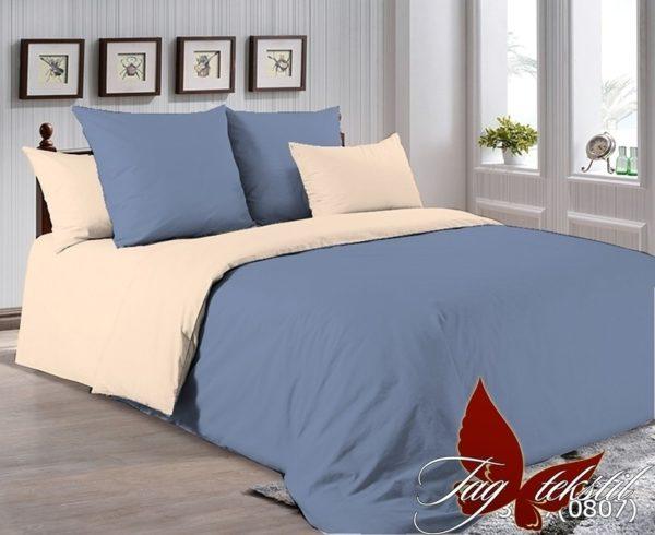 Комплект постельного белья P-3917(0807)  ПОСТЕЛЬНОЕ БЕЛЬЕ ТМ TAG > Евро > Однотонное постельное