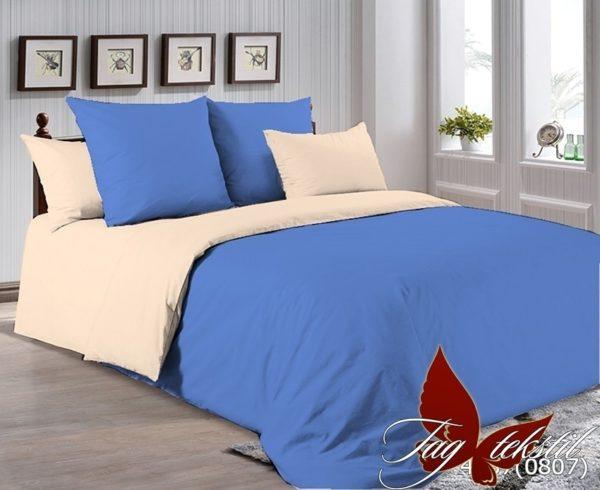 Комплект постельного белья P-4037(0807)  ПОСТЕЛЬНОЕ БЕЛЬЕ ТМ TAG > 1.5-спальные > Однотонное постельное