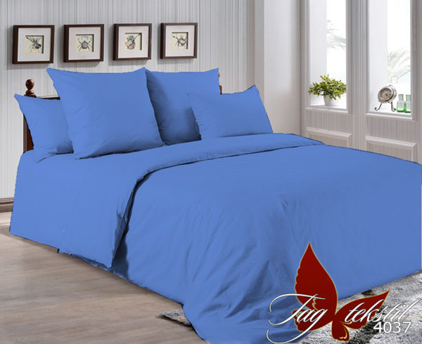 Комплект постельного белья P-4037  ПОСТЕЛЬНОЕ БЕЛЬЕ ТМ TAG > Евро maxi > Однотонное постельное