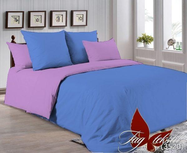 Комплект постельного белья P-4037(3520)  ПОСТЕЛЬНОЕ БЕЛЬЕ ТМ TAG > 2-спальные > Однотонное постельное