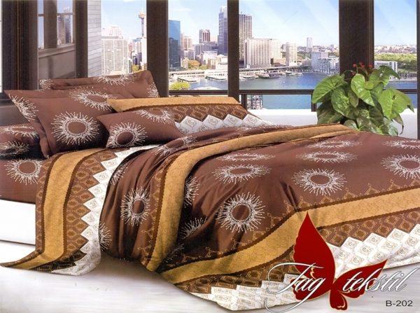 Комплект постельного белья B202  ПОСТЕЛЬНОЕ БЕЛЬЕ ТМ TAG > Евро > Поликоттон 3D