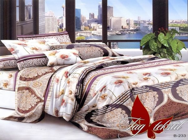 Комплект постельного белья B233  ПОСТЕЛЬНОЕ БЕЛЬЕ ТМ TAG > 2-спальные > Поликоттон 3D