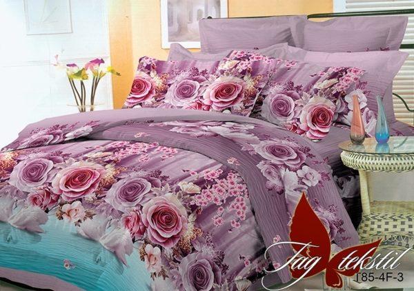 Комплект постельного белья BR003  ПОСТЕЛЬНОЕ БЕЛЬЕ ТМ TAG > Евро > Поликоттон 3D