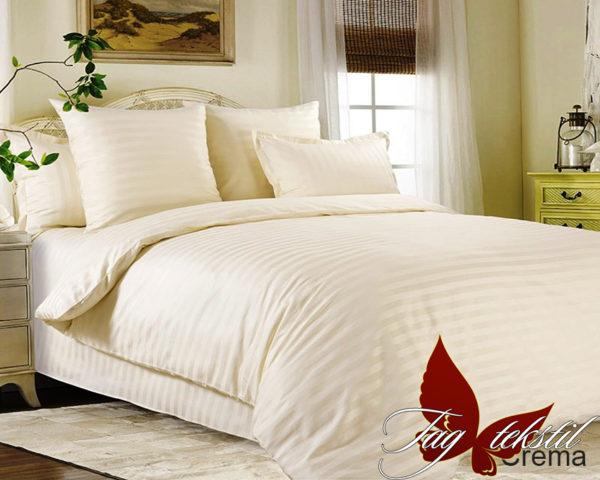 Комплект постельного белья Crema  ПОСТЕЛЬНОЕ БЕЛЬЕ ТМ TAG > 2-спальные > Страйп-сатин