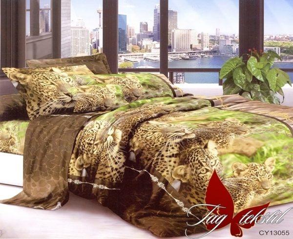 Комплект постельного белья CY13055  ПОСТЕЛЬНОЕ БЕЛЬЕ ТМ TAG > 2-спальные > Поликоттон 3D