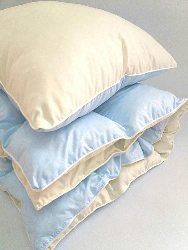 Комплект одеяло и подушка голубой  ПОСТЕЛЬНОЕ БЕЛЬЕ И ТОВАРЫ ДЛЯ ДЕТЕЙ > Подушки и одеяла