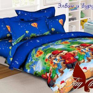 Комплект постельного белья Элвин и бурундуки  ПОСТЕЛЬНОЕ БЕЛЬЕ И ТОВАРЫ ДЛЯ ДЕТЕЙ > 1.5-спальные