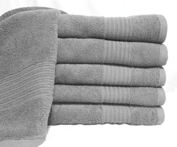Полотенце махровое светло-серое  Полотенца > 70*140 от 1 ед