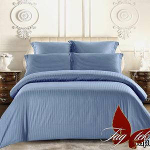 Комплект постельного белья Graphite  ПОСТЕЛЬНОЕ БЕЛЬЕ ТМ TAG > Евро > Страйп-сатин
