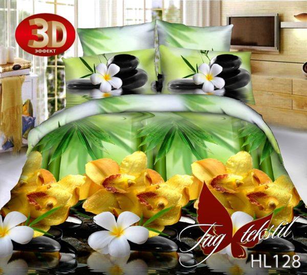 Комплект постельного белья HL128  ПОСТЕЛЬНОЕ БЕЛЬЕ ТМ TAG > Семейные > Поликоттон 3D