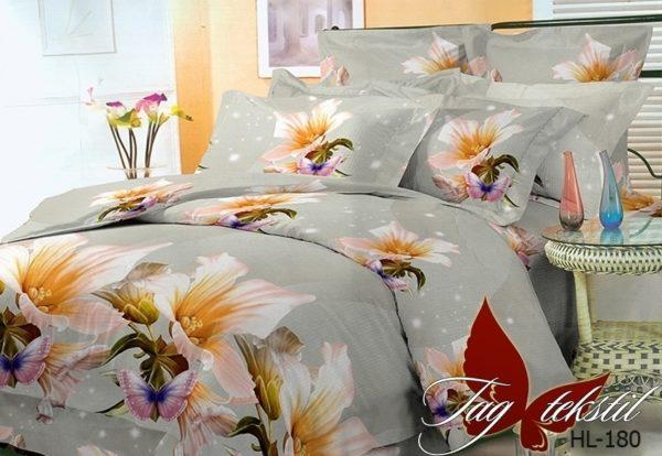 Комплект постельного белья HL180  ПОСТЕЛЬНОЕ БЕЛЬЕ ТМ TAG > Евро > Поликоттон 3D