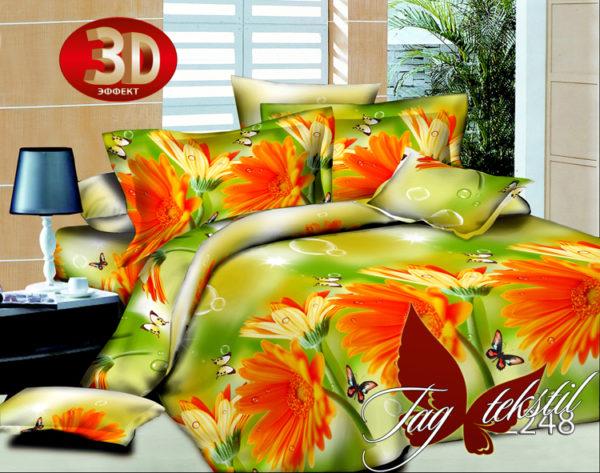 Комплект постельного белья 3D HL248  ПОСТЕЛЬНОЕ БЕЛЬЕ ТМ TAG > Евро > Поликоттон 3D