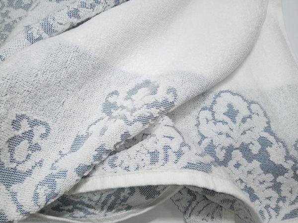 Полотенце жаккард Узор серое 1 Постельный комплект
