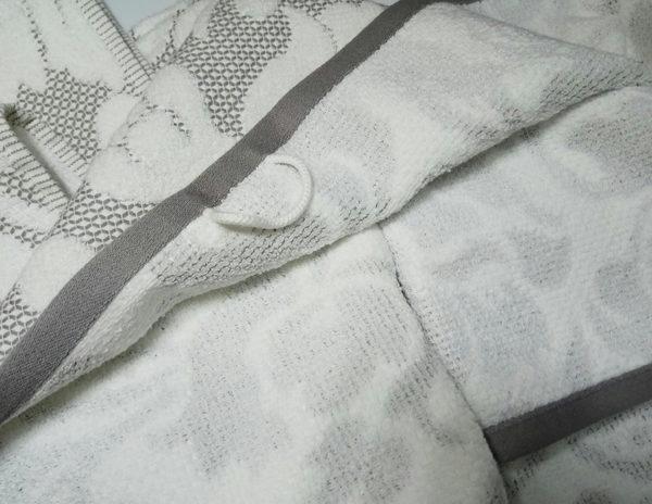 Полотенце жаккард Nanette серое 1 Постельный комплект