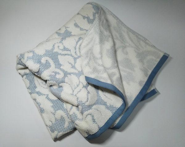 Полотенце жаккард Nanette голубое  Полотенца > 70*140 от 1 ед