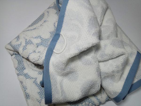 Полотенце жаккард Nanette голубое 1 Постельный комплект