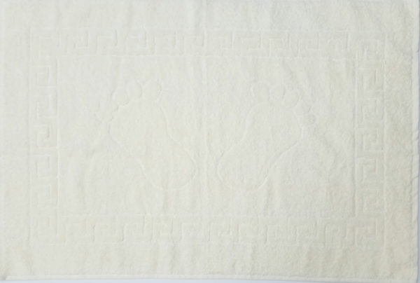 Полотенце махровое для ног молочное (Турция)  Полотенца > Полотенца для ног