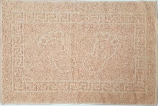 Полотенце махровое для ног бежевое (Турция)  Полотенца > Полотенца для ног
