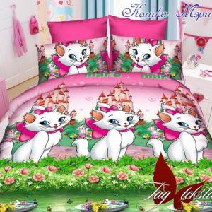 Комплект постельного белья Кошка Мэри  ПОСТЕЛЬНОЕ БЕЛЬЕ И ТОВАРЫ ДЛЯ ДЕТЕЙ > 1.5-спальные