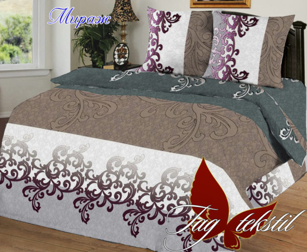 Комплект постельного белья Мираж  ПОСТЕЛЬНОЕ БЕЛЬЕ ТМ TAG > 1.5-спальные > Ренфорс