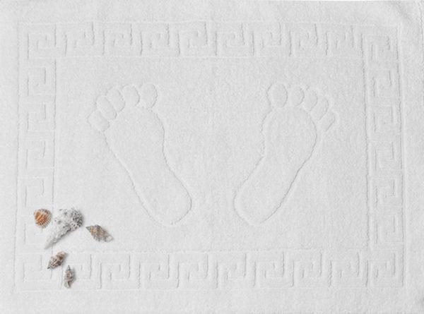 Полотенце махровое для ног белое (Турция)  Полотенца > Полотенца для ног