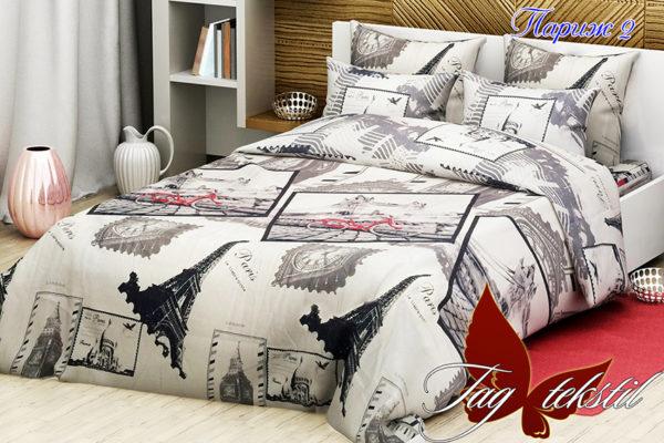 Комплект постельного белья Париж 2  ПОСТЕЛЬНОЕ БЕЛЬЕ ТМ TAG > 2-спальные > Ренфорс