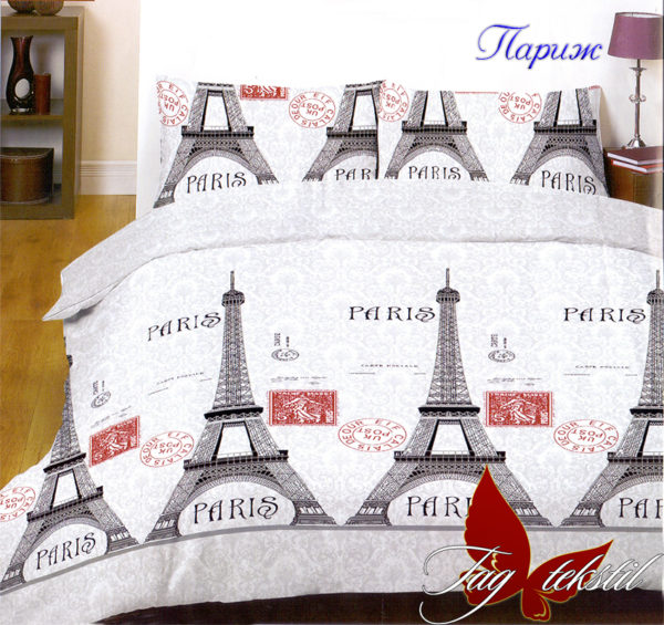 Комплект постельного белья Париж  ПОСТЕЛЬНОЕ БЕЛЬЕ ТМ TAG > 1.5-спальные > Ренфорс