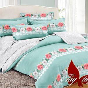 Комплект постельного белья с компаньоном PC049  ПОСТЕЛЬНОЕ БЕЛЬЕ ТМ TAG > Семейные > Поплин