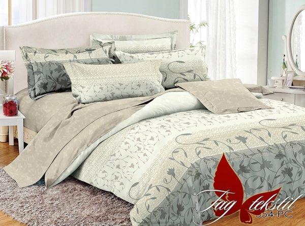 Комплект постельного белья с компаньоном PC054  ПОСТЕЛЬНОЕ БЕЛЬЕ ТМ TAG > 2-спальные > Поплин