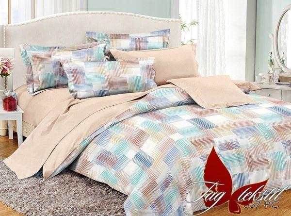 Комплект постельного белья с компаньоном PC057  ПОСТЕЛЬНОЕ БЕЛЬЕ ТМ TAG > 1.5-спальные > Поплин