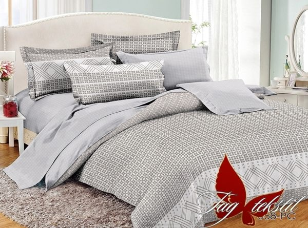 Комплект постельного белья с компаньоном PC058  ПОСТЕЛЬНОЕ БЕЛЬЕ ТМ TAG > Семейные > Поплин