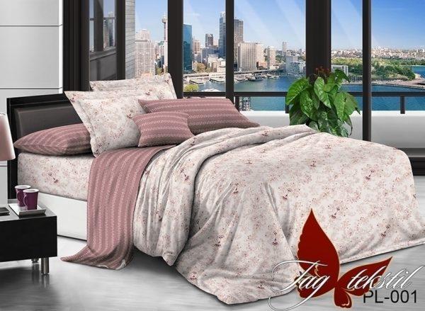 Комплект постельного белья с компаньоном PL001  ПОСТЕЛЬНОЕ БЕЛЬЕ ТМ TAG > 2-спальные > Поплин