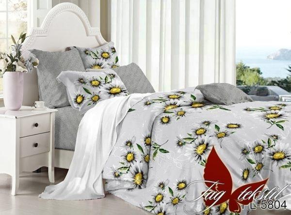 Комплект постельного белья с компаньоном PL5804  ПОСТЕЛЬНОЕ БЕЛЬЕ ТМ TAG > 2-спальные > Поплин