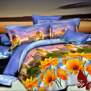 Комплект постельного белья PS-BL075  ПОСТЕЛЬНОЕ БЕЛЬЕ ТМ TAG > Евро > Полисатин 3D