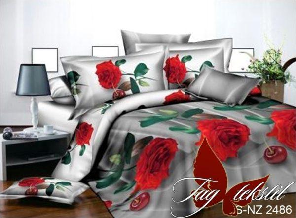 Комплект постельного белья PS-NZ 2486  ПОСТЕЛЬНОЕ БЕЛЬЕ ТМ TAG > 1.5-спальные > Полисатин 3D